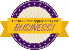 The bank that appreciates your Business! - company slogan
